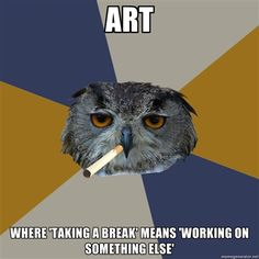 Yeah Art Student Owl