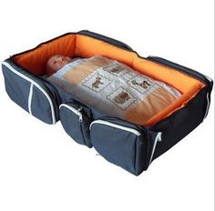 Fold out bed diaper bag! That's pretty cool