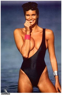 "Elle Macpherson - I remember they called her ""The Body""...I can't understand why...."