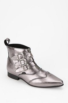 underground triple buckle ankle boot