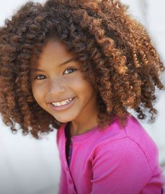 So adorable! I think I found the perfect hair color for me. little girls, kinky curly, hair colors, curly styles, natur hair, children, hair highlights, curly hair, kid