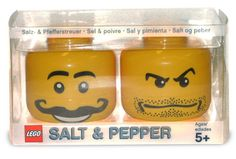 LEGO Heads Salt and Pepper Shakers