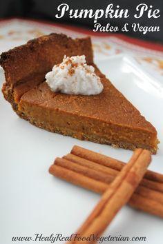 Paleo & Vegan Pumpkin Pie (gluten free, grain free, dairy free, egg free)