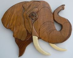 Custom Order Your Own Wood Intarsia African Animal. via Intarsiabydebbie of Etsy.