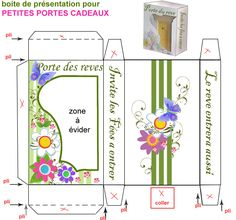 BOITE_PRESENTATION__PORTE Printable Box, Printables, Envelopes, Minis, Diy Cardboard, Paper Models, Favor Boxes, Gift Bags, Stencils