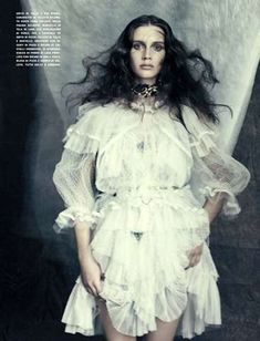 Gothic Opulence Editorials - The Vogue Italia Marie Vatch Feature Showcases a Dark Allure (GALLERY)