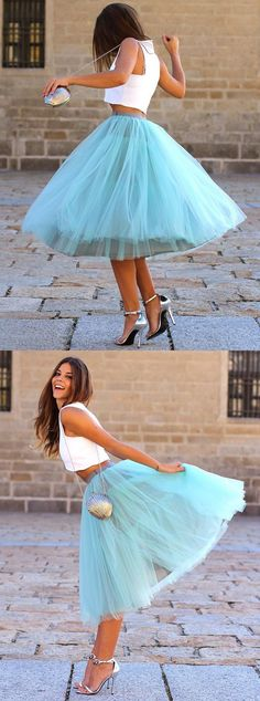 party dresses, chic 2 pieces tutu dresses, tutu skirt, cheap fashion party dresses