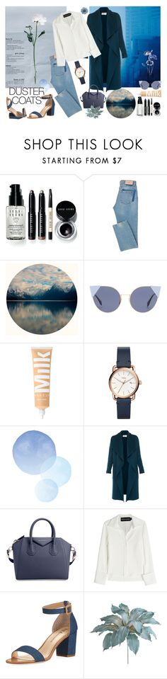 """青"" by enakshic on Polyvore featuring Bobbi Brown Cosmetics, Fendi, FOSSIL, L.K.Bennett, Givenchy, Brandon Maxwell, Neiman Marcus, Pier 1 Imports and NOVICA"
