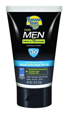 Banana Boat Sunscreen for Men Triple Defense Broad Spectrum Sun Care Sunscreen Lotion - SPF 30, 2 Ounce * Special  product just for you. See it now! : SkinCare
