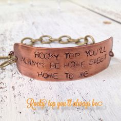 """Rocky Top You'll Always Be Home Sweet Home by sophisticatedjunkie, $25.00 -love. just wondering how """"wearable"""" it is. no picture with it on a wrist"""