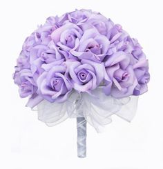 Lavender Silk Rose Hand Tie 36 Roses  Bridal Wedding Bouquet * You can get additional details at the image link. Note: It's an affiliate link to Amazon.