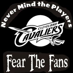 New Custom Screen Printed Tshirt Cleveland Cavaliers Fear Fans S - 4XL Free