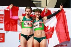 Krista DuChene and Lanni Marchant both broke Ruegger's 28-year old Canadian record