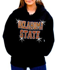 Oklahoma State Hoodie  with bling. So cute.