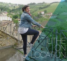 Check out Lither Alysea McDonald in Roccascalegna, the Abruzzo region of Italy.  Great Liberty and awesome view!  Have you been Lithing on location?  Send your pictures to blog@lithemethod.com!  #LitheonLocation