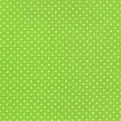 Tissu Spring mini pois anis fond mousse x 10cm
