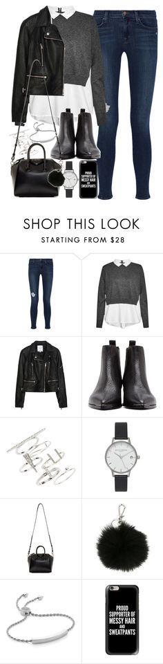 """""""Outfit for an interview in winter"""" by ferned ❤ liked on Polyvore featuring J Brand, French Connection, Zara, Acne Studios, Topshop, Olivia Burton, Givenchy, MICHAEL Michael Kors, Monica Vinader and Casetify"""