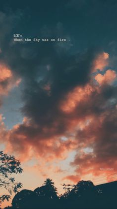 The sky on fire Sunset Captions For Instagram, Sunset Quotes Instagram, Instagram Picture Quotes, Instagram Photo Editing, Photo Quotes, Instagram Story, Instagram Caption, Cloud Quotes, Sky Quotes