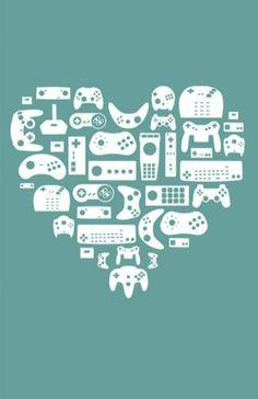 gamers, nerds, heart, gamer love, gamer hearts, controllers