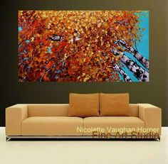 SALE Oil Landscape painting Abstract Original Modern 48 by artmod