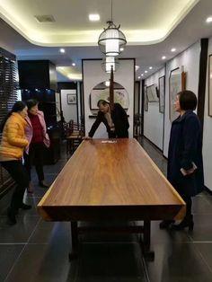 suar wood solid slab dining table
