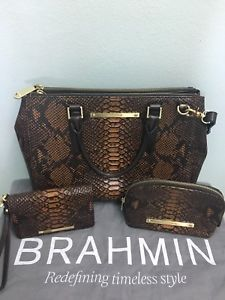 aa4a405f63c8 BRAHMIN LINCOLN SATCHEL TAN BROWN TORTOISE LEATHER SATCHEL ADJUSTABLE STRAP  | eBay Tan Handbags, Satchel