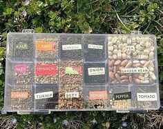 Great idea for organizing seeds for gardening!