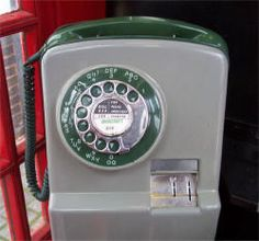 Telephone Box -You dialed the number and only put your money in when the other person answered and you heard the pips.