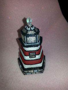 Lighthouse beaded box