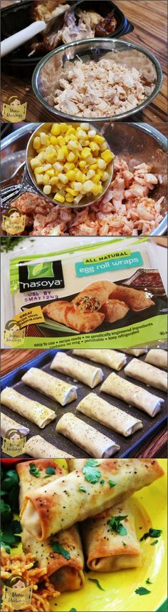 Baked Chicken Taquitos. A fun and easy recipe to make with your kids on a busy day. Easily customizable and step-by-step photos.