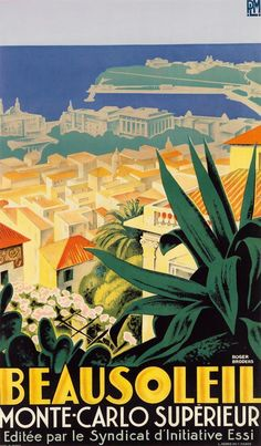 ROGER BRODERS (1883-1953). BEAUSOLEIL / MONTE - CARLO SUPÉRIEUR. Circ... Lot 131   #FreedomOfArt  Join us, SUBMIT your Arts and start your Arts Store   https://playthemove.com/SignUp