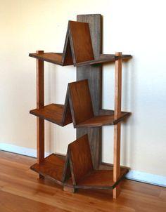 Bookcase Modern 3 shelf Wood Wooden Custom  The by MapleBear