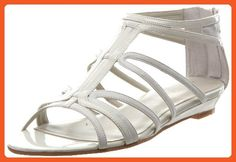 Nine West Women's Makaia Gladiator Sandal,White/White Synthetic,6 M US - Sandals for women (*Amazon Partner-Link)