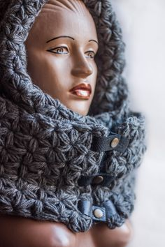 03b13e365384 stacy chanscoodie · Scarf hood that you can wear as a long scarf or as an  infinite scarf on