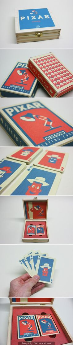 Pixar Playing Cards Box by Chris Anderson #genialidad
