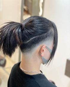 Short Hair Syles, Short Hair Cuts, Curly Hair Styles, Korean Hair Color, Men Hair Color, Short Hair Undercut, Undercut Hairstyles, Dark Hair Pale Skin, Short Hair Tomboy