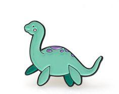Loch Ness Enamel Pin Soft Enamel Pin Cloisonné Nessie by LuxCups