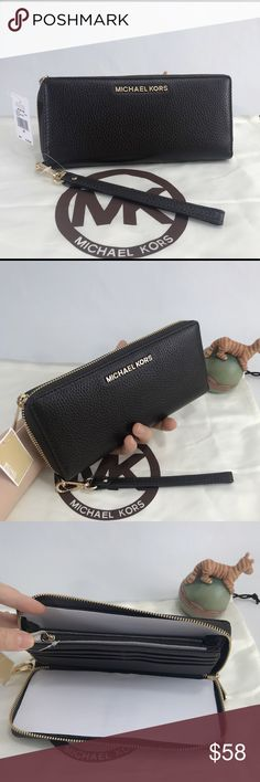 e49e1e667dec NWT Michael Kors Continental Wallet Beautiful wallet/wristlet! Coffee brown  color. Can fit a ton. New with tags. Authentic. Michael Kors Bags Wallets