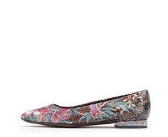 Attilio Giusti Leombruni - The Tropical ballet flat. #aglshoes #fw17 #shoes #ballet #tropical #flower #pattern