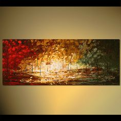 Modern Landscape Abstract Original Acrylic Painting by Osnat - MADE-TO-ORDER…