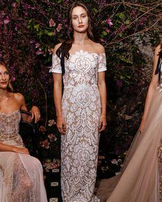 Sarah Seven Spring 2018 Wedding Dress Collection   Martha Stewart Weddings – Off-the-shoulder lace wedding dress