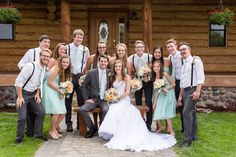 Bridal party in Bend Oregon Wedding photographer at Wallace Ranch by TréCreative Film&Photo http://trecreative.com/