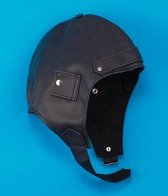 34fb7fdd Deluxe Vintage Aviator Helmet WWII Military Style Pilot Hat Black Faux  Leather 48 Military Fashion,