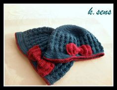 Turquoise Set - baby & mom hat with brim