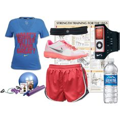 Workout clothes, but probably different running shoes!