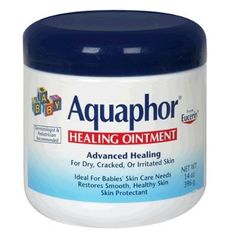Aquaphor--cure all for dry skin, drool rash, diaper rash prevention, cold weather protection