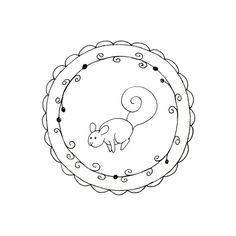 Squirrel Printable Embroidery Pattern by teenytinyhappythings, $3.00