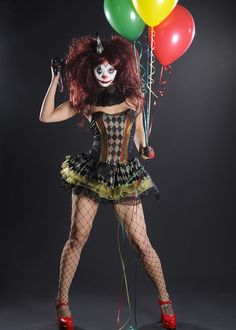 Sexy Killer Clown on model Veronika see video here https://www.youtube.com/channel/UCBSN-M3-wvMWsWBvReKFTMA