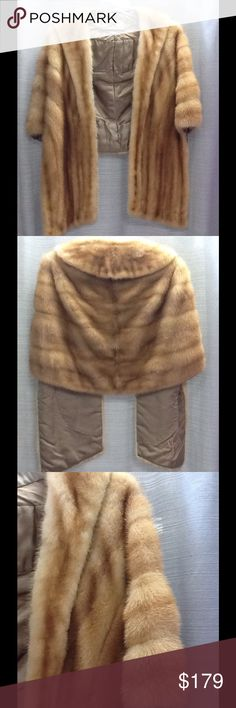 Vintage Kay Anos Fur Mink Beige Honey Color Stole Vintage Kay Anos Fur Mink Beige Honey Color Stole Jackets & Coats Capes