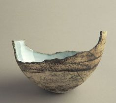 Ceramics by Ruty Benjamini at Studiopottery.co.uk - 2012. Angle egg boat